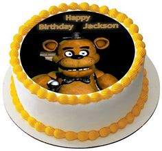 Five Nights at Freddy's 2 Edible Birthday Cake OR Cupcake Topper – Edible Prints On Cake (EPoC)