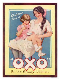 """OXO """"Sturdy Children"""" 1925 Vintage Postcards, Vintage Ads, Vintage Images, Poster Vintage, Vintage Signs, Vintage Advertising Posters, Old Advertisements, Vintage Artwork, Vintage Prints"""