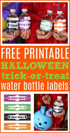 What's my secret to being the most popular trick-or-treat house? Grab your FREE Halloween Water Bottle Labels Printable + Tooth Brushing Tips for Kids Halloween Activities, Halloween Costumes For Kids, Halloween Party, Halloween Tips, Teen Costumes, Halloween Carnival, Halloween Stuff, Happy Halloween, Halloween Decorations