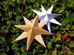 Móbile ESTRELA de origami 20cm