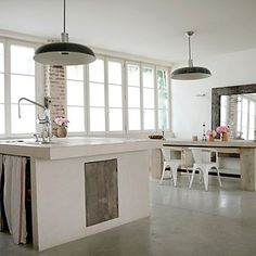 contemporary twist on a rustic kitchen