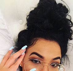 47 Trendy Glasses Makeup Black Hair - List of the best jewelry Beauty Makeup, Hair Makeup, Hair Beauty, Men Makeup, Makeup Lipstick, Hair Inspo, Hair Inspiration, Makeup Black, Curly Hair Styles