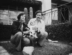 Pablo Escobar with His wife Maria Victoria Henao Escobar born 1976 died 1993