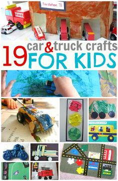 car and truck crafts for kids - Polka Pics