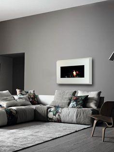 Bioethanol wall-mounted #fireplace RAFFAELLO by bioKamino @biokamino