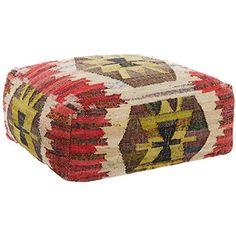 Large Aztec Patterned Pouffe
