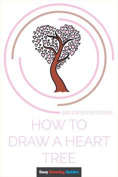 Learn to draw a heart tree. This step-by-step tutorial makes it easy. Kids and beginners alike can now draw a great heart tree. What Is A Heart, Trees Drawing Tutorial, Cartoon Heart, Drawing Tutorials For Kids, Heart Tree, Coloring Tutorial, Small Heart, Step By Step Drawing, Learn To Draw