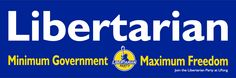 """New Libertarian stickers, 2 for $5 or 20 cents in bulk — Spring is here! It's time to spruce up your car with a new Libertarian sticker! All orders get at least two stickers, which means you'll have one for your other car, or to share with a Libertarian friend! These high quality vinyl 9""""x3"""" bumper stickers will help you proudly show your Libertarian affiliation. — Read more: http://www.lp.org/blogs/staff/new-libertarian-stickers-2-for-5-or-20-cents-in-bulk"""