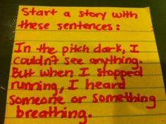Start a story with these sentences:          In the pitch dark, I couldn't see anything. But when I stopped running, I heard someone or something breathing.