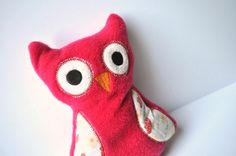 Red Owl  Little Owl  Plush Plushie Plushies  by BirdieAndDot, $15.00