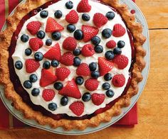 Desserts in Red, White, & Blue - Celebrate the 4th of July with sweet berry-topped cakes, pies, trifles, and cobblers—all decked out in the proud colors of Old Glory.