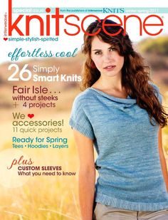knitscene - page web complet Love Knitting, Knitting Daily, Knitting Books, Knitting Patterns, Knitting Magazine, Crochet Magazine, Wordpress Website Design, Winter Springs, Beading Projects