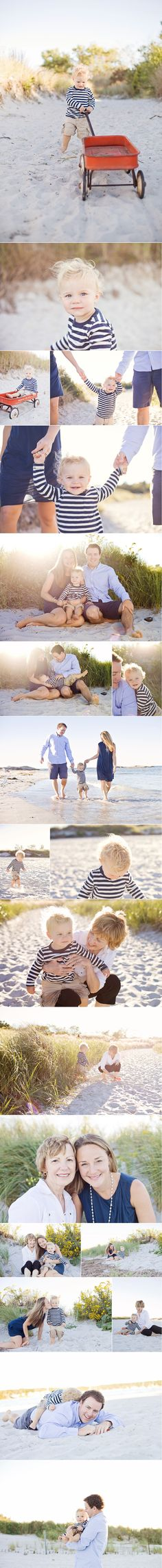 Beach Session. Coordinated/not matching. A sweet boy and his family | Massachusetts Family Photographer