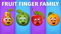 Pear, Apple, Cherry and Orange Finger Family Songs Finger Rhymes, Finger Family Rhymes, Family Songs, Kids Songs, Sister Finger, Mommy Finger, Baby Finger, Finger Family Collection, Nursery Rhymes Collection