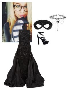 """Masqurade Ball"" by mad-die-hatter ❤ liked on Polyvore featuring Heather Huey, GUESS and Oscar de la Renta"