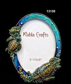 Frame/Sea TurtleBrass/Pewter  Glass Enameled  Swarovski Crystals/Austrian Crystals  Handmade in Asia $33