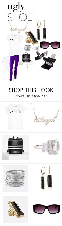 """Ugly Shoe"" by michelle858 ❤ liked on Polyvore featuring Vigoss, Fantasia by DeSerio, Avenue, Blue Nile and Moschino"