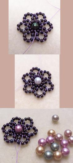 Free DIY tut - bead flower