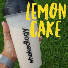This shake uses real lemon juice and grated lemon zest to get the sweet and tangy flavor of a slice of lemon cake.The scent of lemons is a real pick-me-u Shakeology Shakes, Beachbody Shakeology, Vanilla Shakeology, Herbalife Shake, Shakeology Cleanse, Herbalife Recipes, Protein Shake Recipes, Smoothie Recipes, Milkshake Recipes