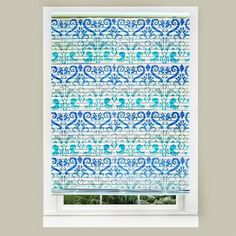 easy stenciled mini blinds diy , bedroom ideas, home decor, painted furniture, repurposing upcycling, window treatments