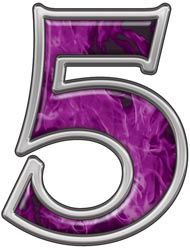 Reflective Number 5 with Inferno Pink Flames :: Inferno Pink Reflective Vinyl Lettering and Numbering :: Letters and Numbers :: Weston Signs Inc. All Things Purple, Purple Stuff, Printable Numbers, Alphabet And Numbers, Vinyl Lettering, 4th Birthday, Little Girls, Girly, Monogram