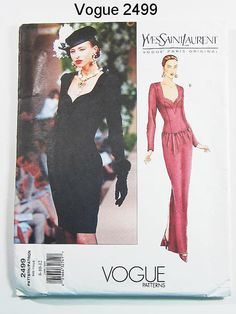 Vintage 90s Dress Pattern Uncut Vogue 2499 by by ThePatternSource, $40.00