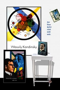 "Franz Marc and Kandisky, the frontmen of ""der blaue Reiter"". From: Perspectives on art by Henk van Os, via Behance"