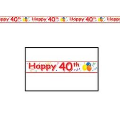 Happy 40th Party Tape Party Accessory 1 count 1Pkg * More info could be found at the image url.