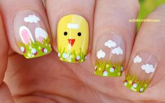 #Easter #Bunny & #Chicken #Nailart / https://www.youtube.com/user/LifeWorldWomen