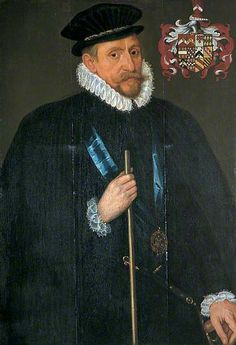 William Brooke (1527–1597), Lord Cobham, Lord Warden of the Cinque Ports by Antonis Mor. Oil on panel, 102 x 68.5 cm. Dover Museum