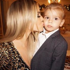 Khloe Kardashian's Christmas Eve Kiss to Reign Disick May Be the Family's Cutest Photo of the Season