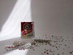 Using hole puncher to make sequins out of beer cans. By Ivča Vostrovska