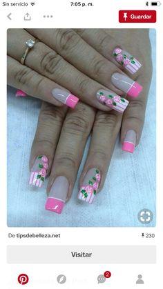 French Tip Nail Designs, French Tip Nails, Nail Art Designs, Cute Nail Art, Cute Nails, Xmas Lights, Manicure And Pedicure, Wedding Nails, Eye Makeup