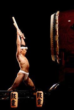 Taiko Drum and performer, Japan.
