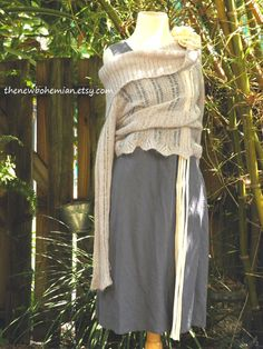 Gray Linen Upcycled Dress The New Bohemian