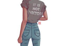 It is not vector! by Elina Novak