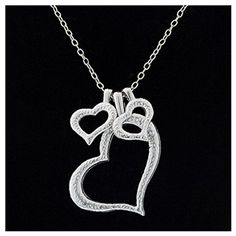 MJartoria Trio of Hearts Silver Color Charm Necklace MJartoria http://www.amazon.com/dp/B00WK6WP50/ref=cm_sw_r_pi_dp_VSkKvb1Q6WMKQ