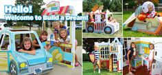 BUILD A DREAM PLAYHOUSES- cardboard, decorate them yourself & very affordable
