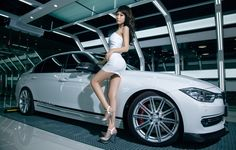 Wallpapers girl, bmw 3, asian, korean model, model, car, auto ...