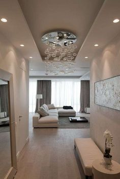 Top Modern Living Room Interior Designs and Furniture Home Living Room, Interior Design Living Room, Living Room Designs, Living Room Decor, Plafond Design, House Styles, Home Decor, Decorating Ideas, Sweet