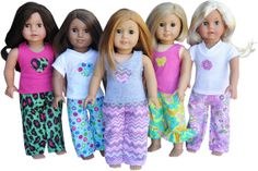 American Girl Birthday Party - Pajama Party Theme Set 5 Pack on Etsy, $60.00