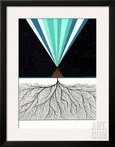 Above and Below Premium Giclee Print by Mark Warren Jacques at Art.com
