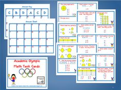 Academic Olympic Math Task Cards