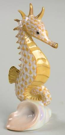 SEAHORSE-BUTTERSCOTCH HerendHerend Figurine at Replacements, Ltd