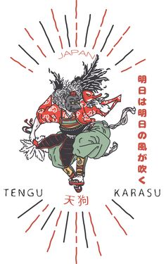 TENGU TEES DESIGN 2015 - JAPAN KARASU 天狗 on Behance