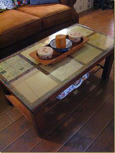 decoupage glass table top idea for my coffee table | home
