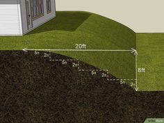How to Level a Sloping Garden (with Pictures) - wikiHow Landscaping designs sloped yard How to Level a Sloping Garden Steep Hillside Landscaping, Steep Backyard, Sloped Backyard Landscaping, Backyard Retaining Walls, Terraced Backyard, Landscaping On A Hill, Sloped Yard, Hillside Garden, Terrace Garden