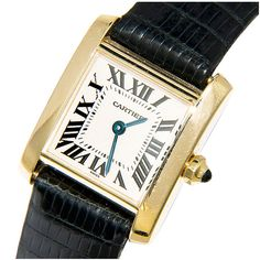 CARTIER Tank Francaise Ladies Gold Watch