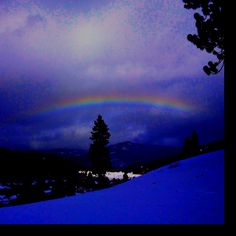Rainbow over Tahoe