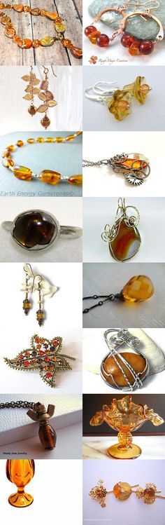 Fresh for #Fall #Amber by Gaetana on Etsy-- #jetteam #jewelryonetsy Pinned+with+TreasuryPin.com